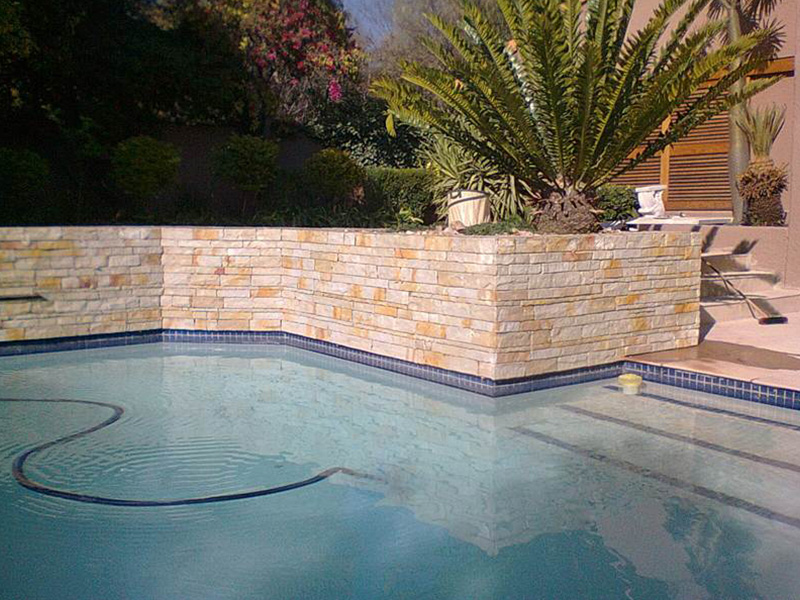 Sandstone Strip Walling