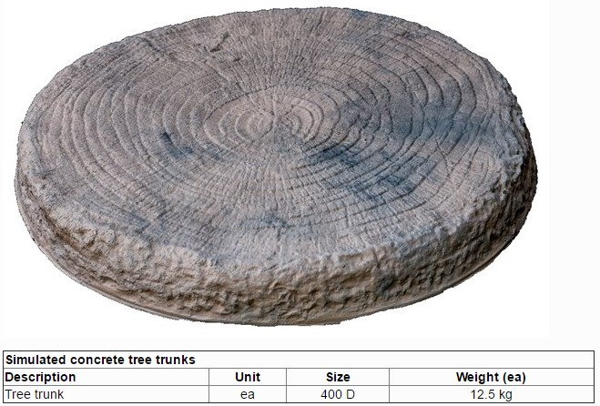 Simulated concrete tree trunk