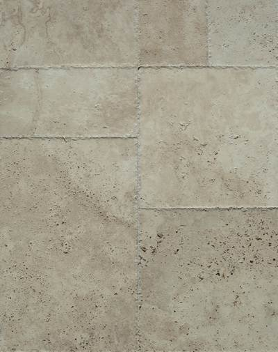 Travertine French Pattern Set Brushed (Unfilled)