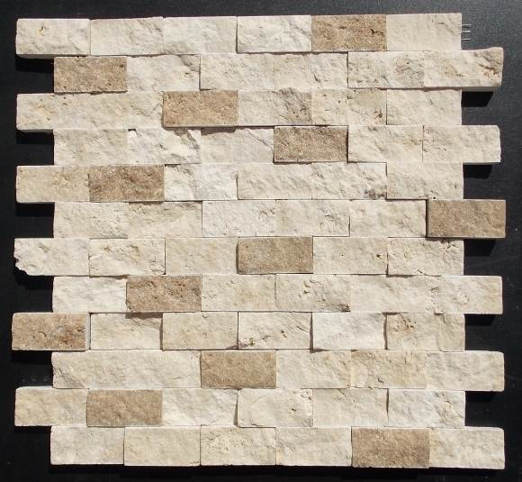 Travertine Mosaic Split Face